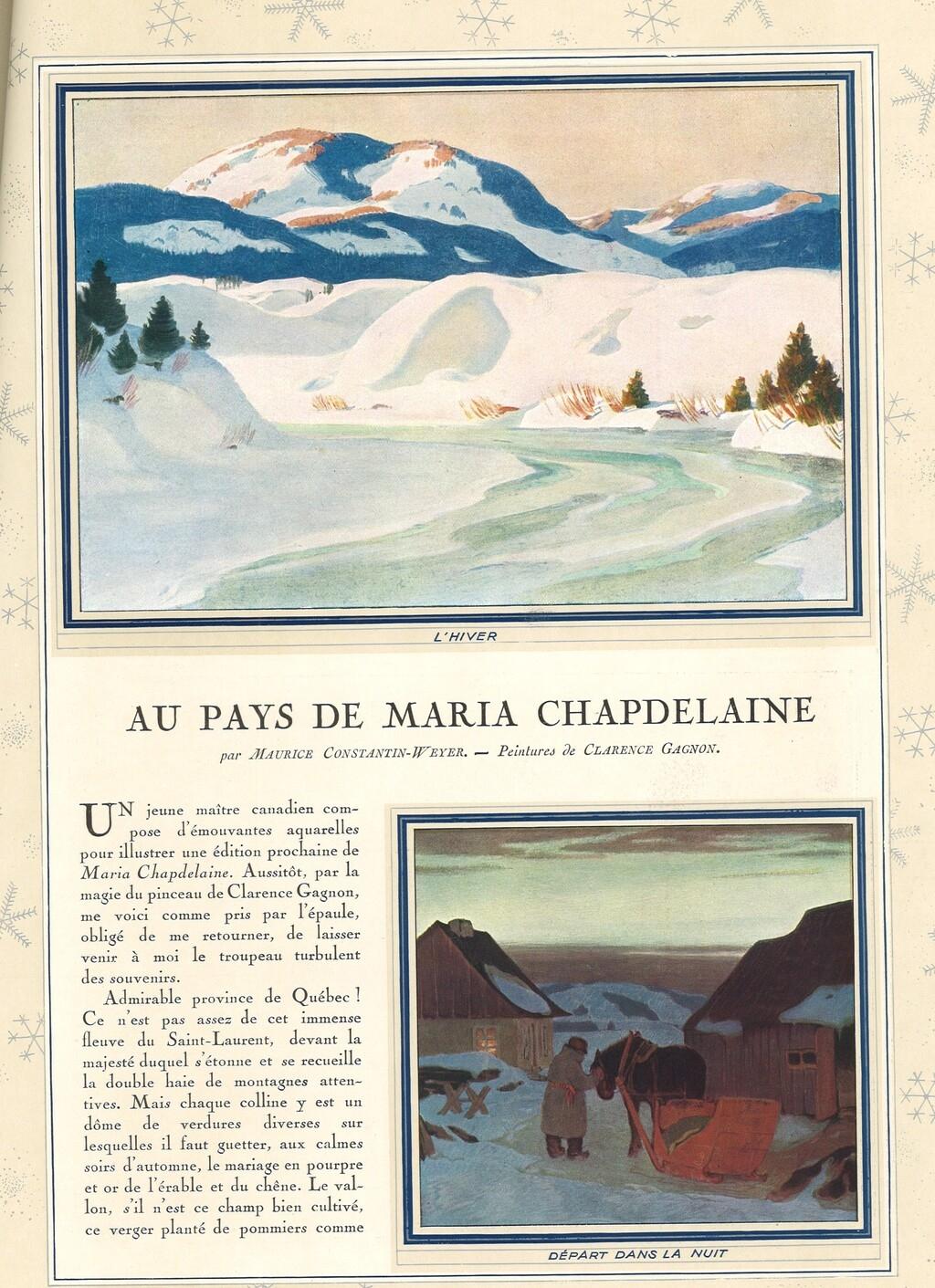 Au Pays de Maria Chapdelaine   Clarence Gagnon, 1931
