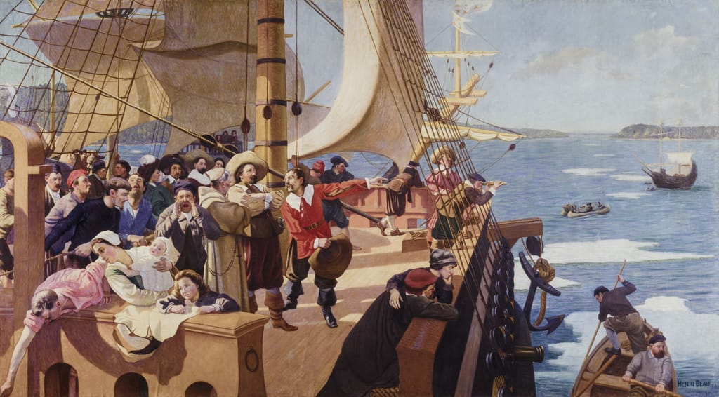 L'Arrivée de Champlain à Québec