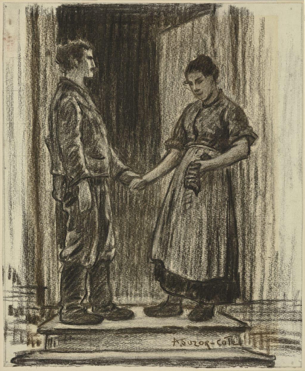 La Demande en mariage. Illustration pour « Maria Chapdelaine » de Louis Hémon