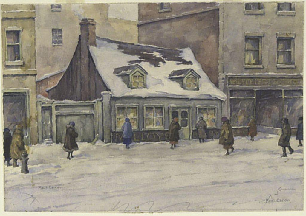 Maisons rue Sainte-Catherine à Montréal