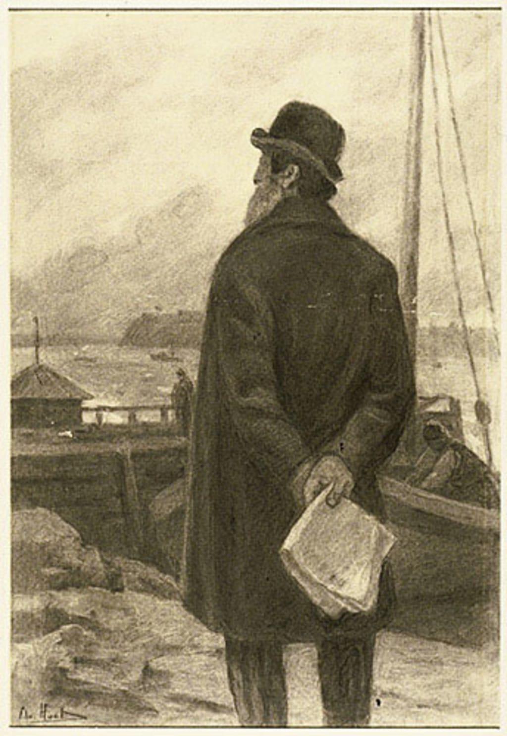 Le Père Plante, pilote à Sainte-Pétronille, île d'Orléans