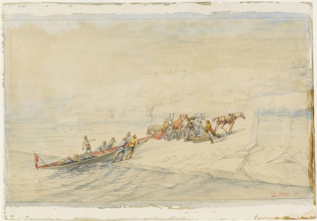 Le Transport du courrier entre Québec et Lévis avant 1860. L'Arrivée à Lévis