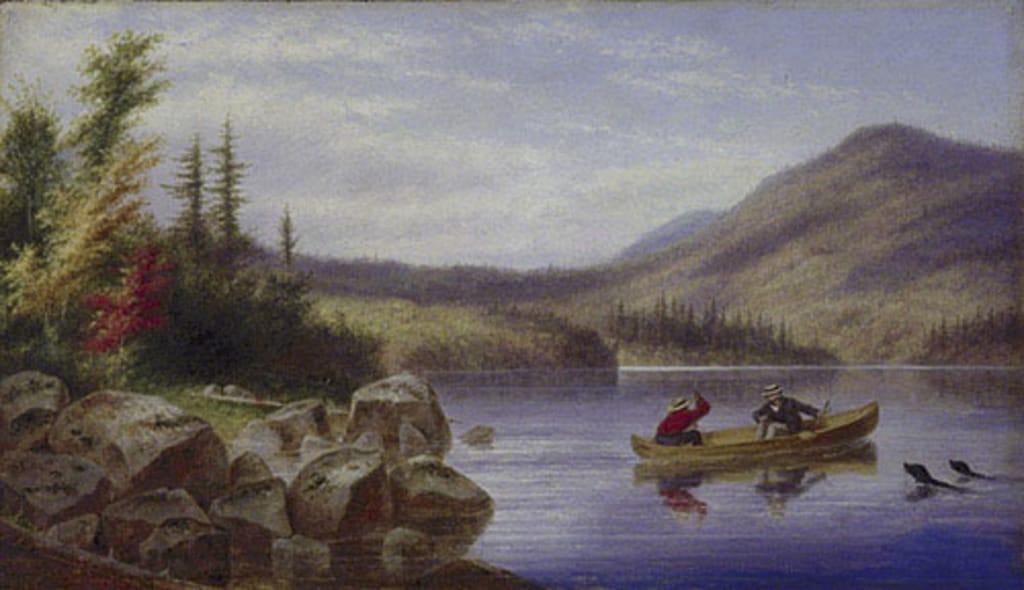 Promenade en canot sur le lac Laurent à l'automne