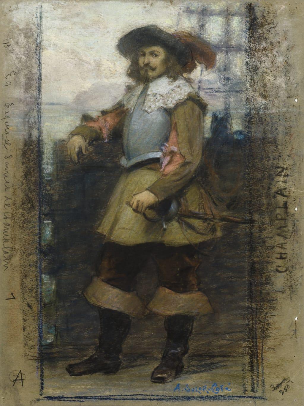 Étude pour « L'Arrivée de Samuel de Champlain à Québec »