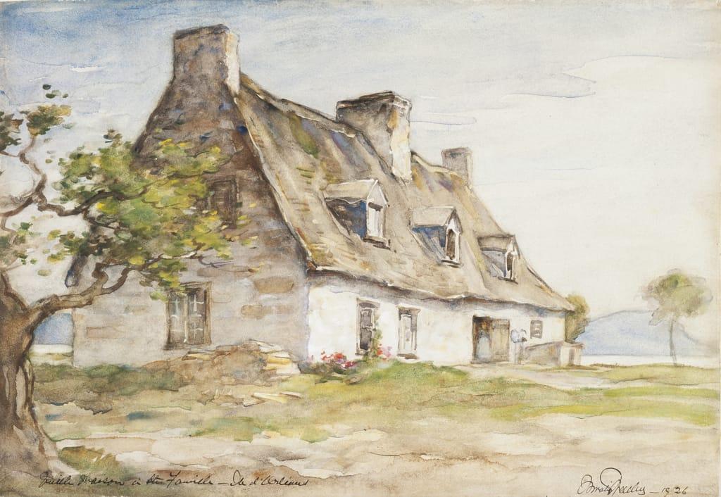 Vieille Maison à Sainte-Famille, île d'Orléans