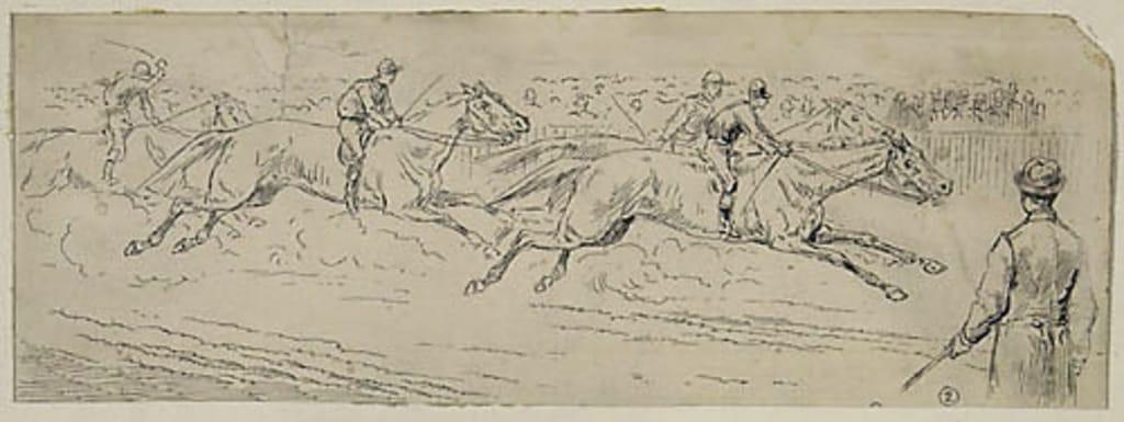 Course à Lepine Park, Montréal. Illustration pour le Canadian Illustrated News