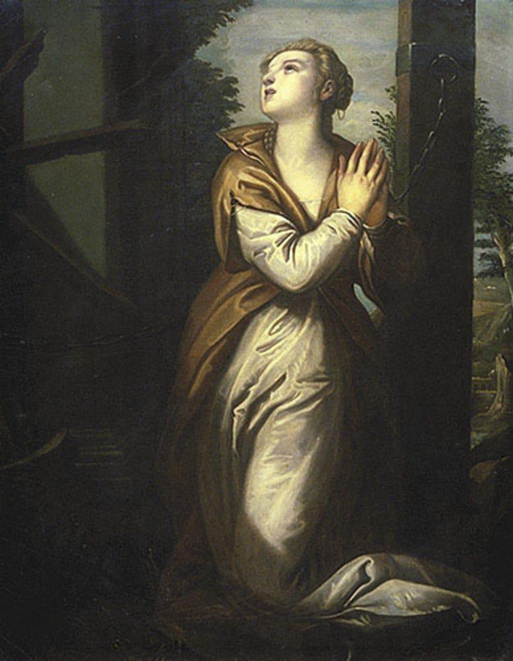Sainte Catherine d'Alexandrie en prière