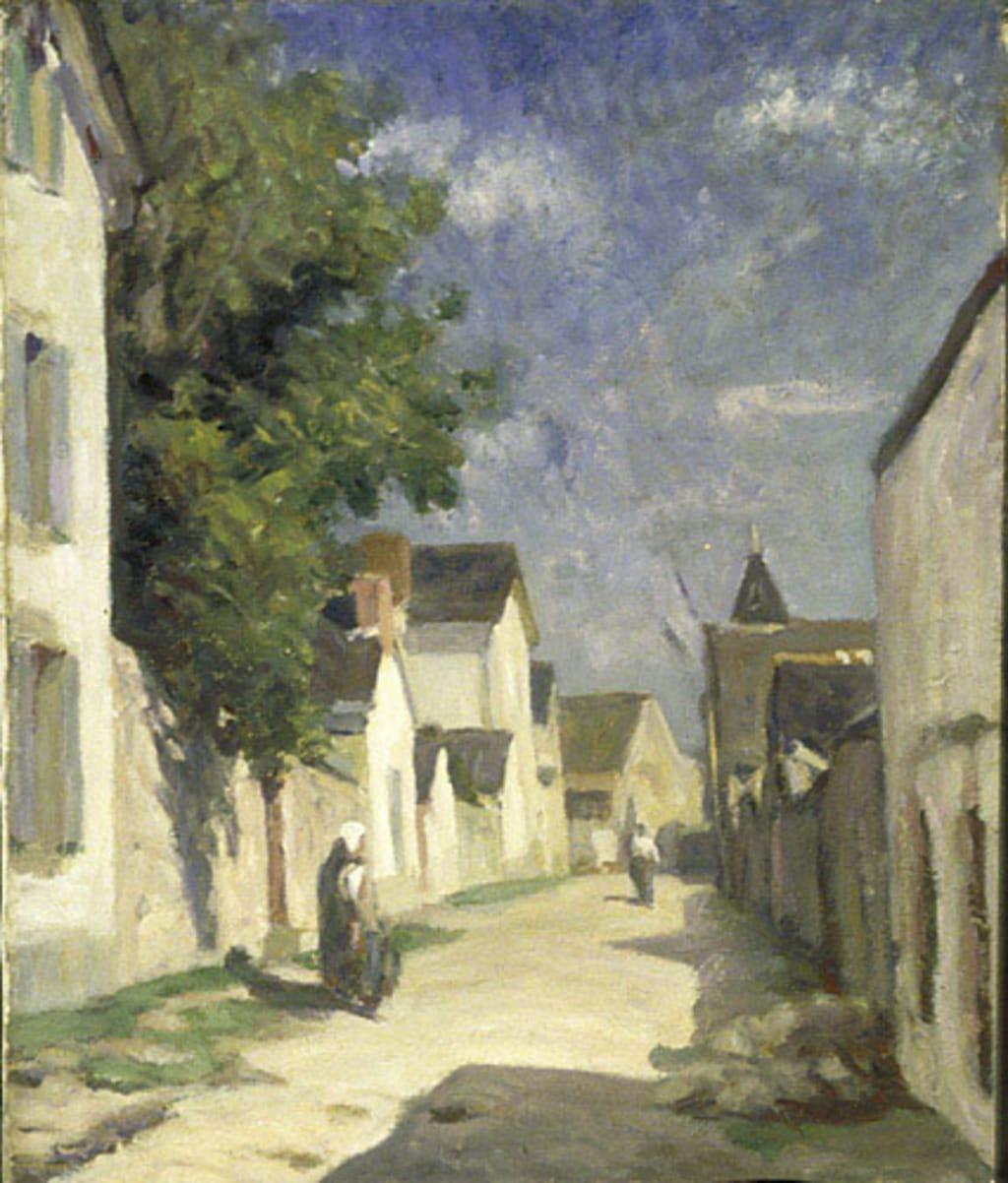 Paysage, rue de village espagnol