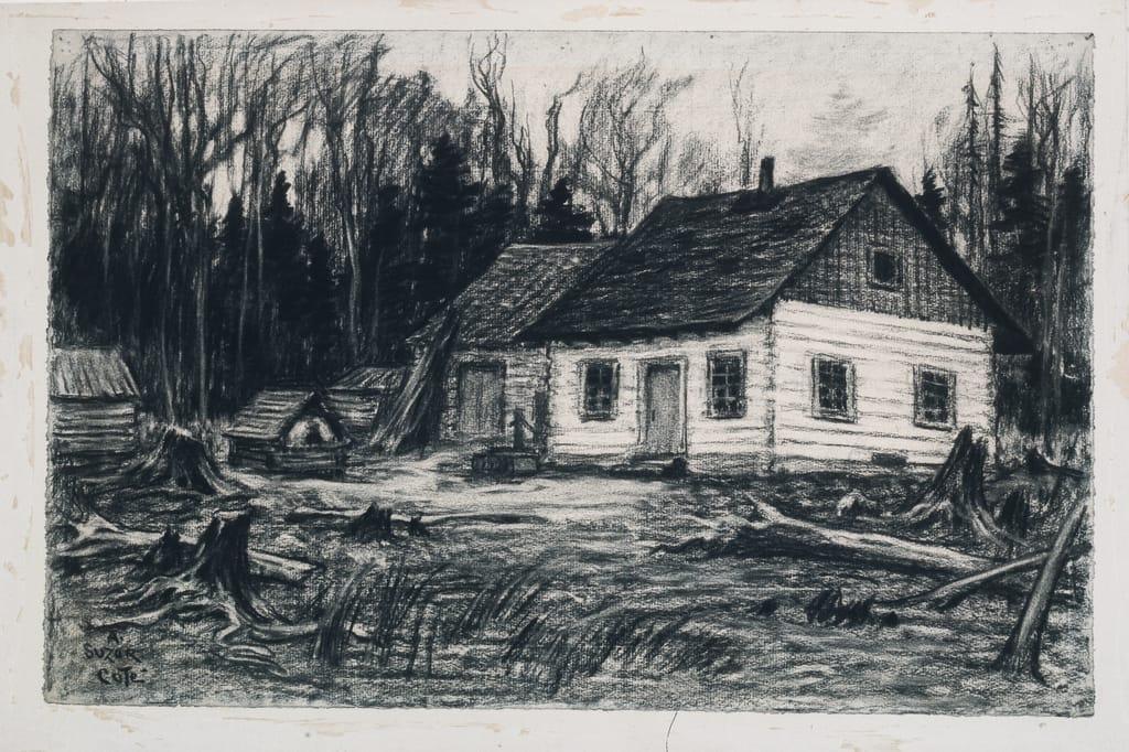 Le Camp. Illustration pour « Maria Chapdelaine » de Louis Hémon