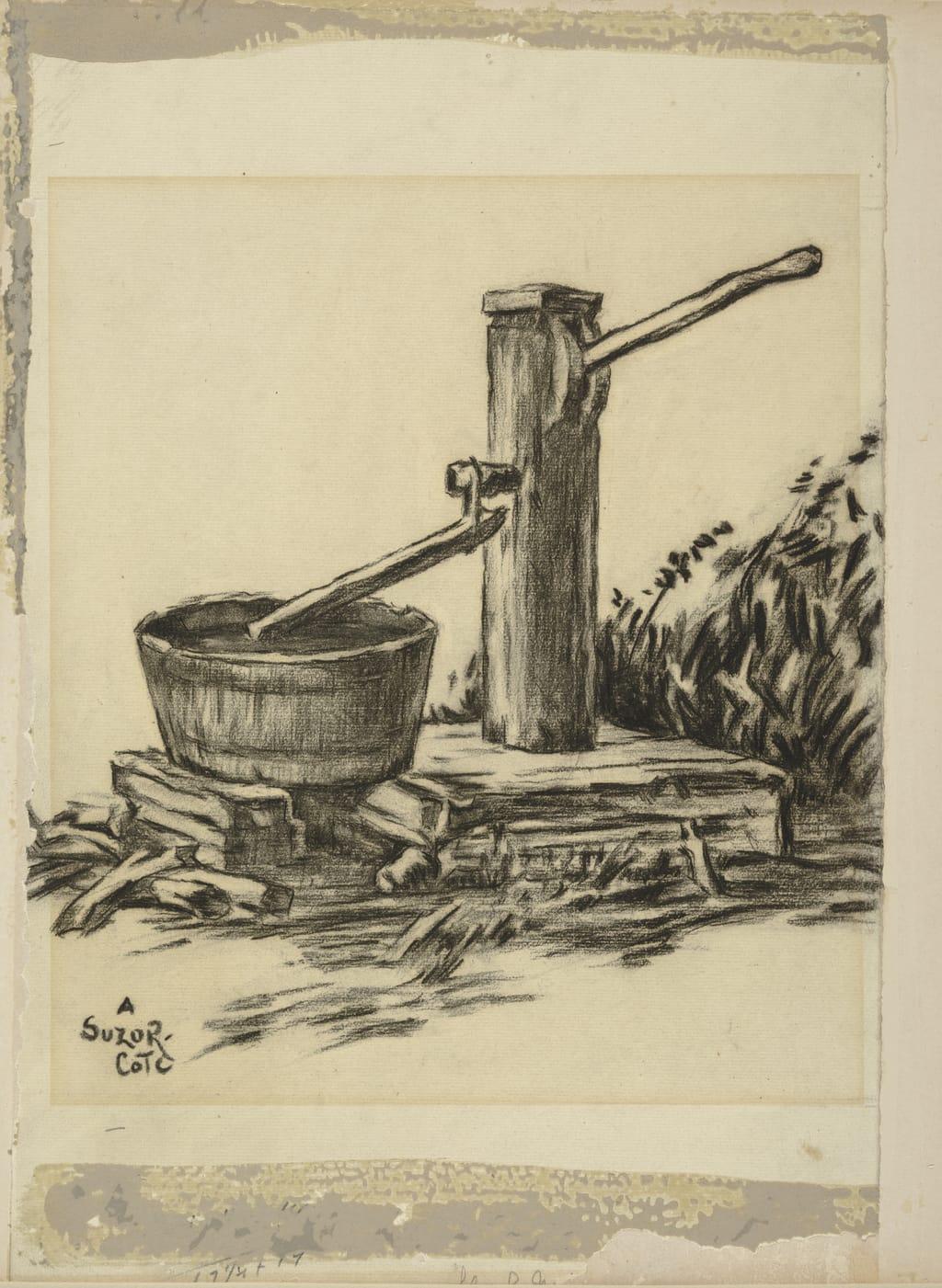 La Pompe. Illustration pour « Maria Chapdelaine » de Louis Hémon