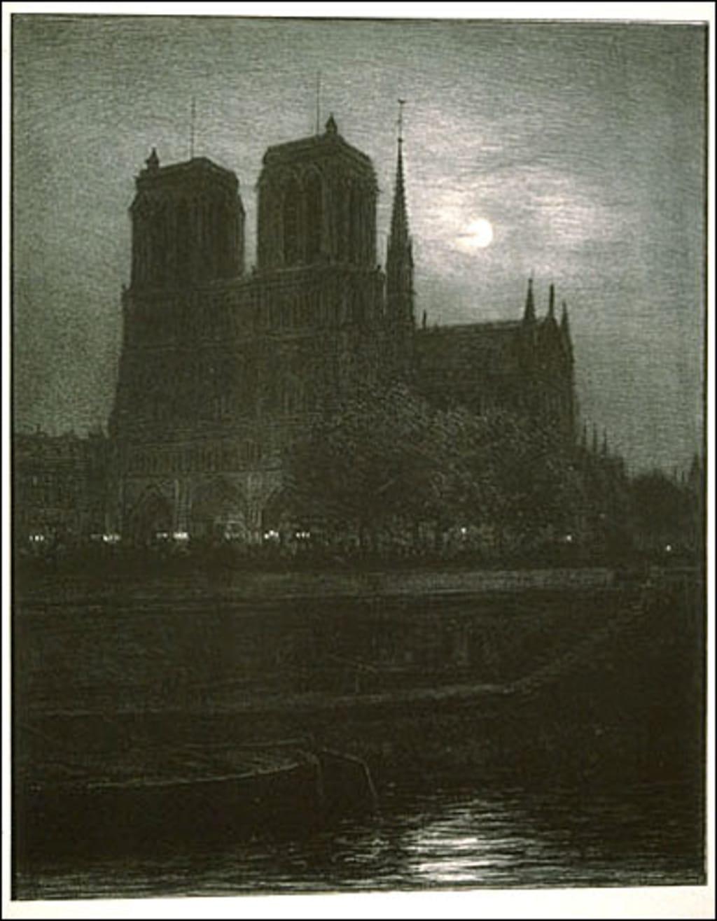 Notre-Dame de Paris au clair de lune