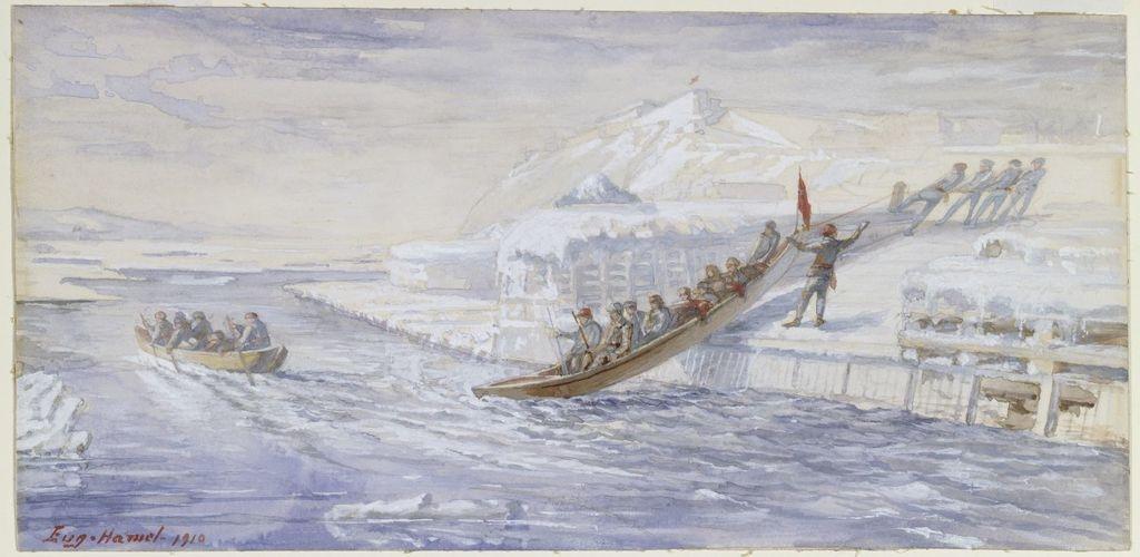 Le Transport du courrier entre Québec et Lévis avant 1860. Le Départ de Québec