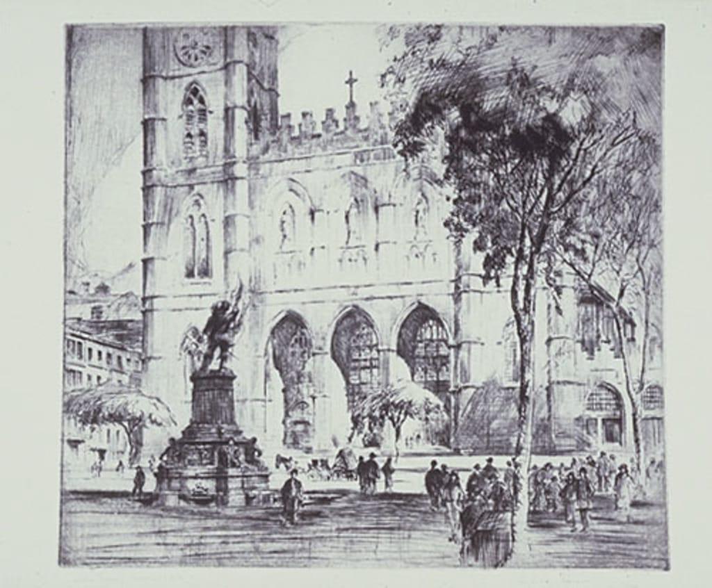 L'Église Notre-Dame et la place d'Armes, à Montréal