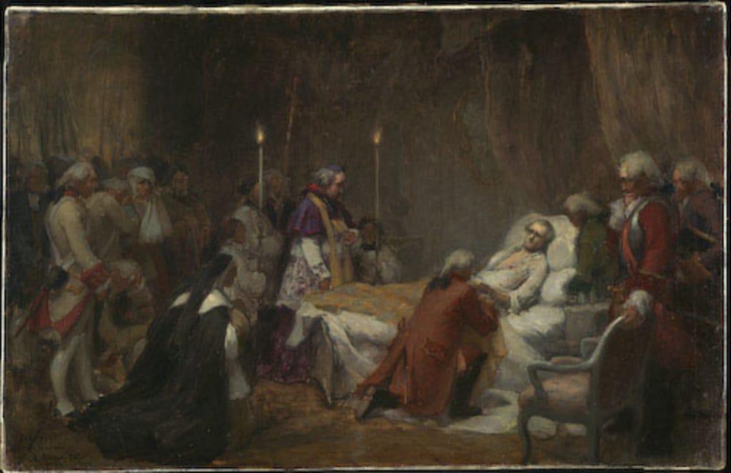 Esquisse pour « La Mort de Montcalm »