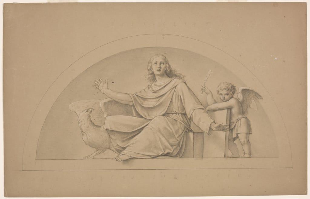 Saint Jean l'Évangéliste. Étude pour la décoration du choeur de l'église Saint-Jean-l'Évangéliste, à Saint-Jean-sur-Richelieu