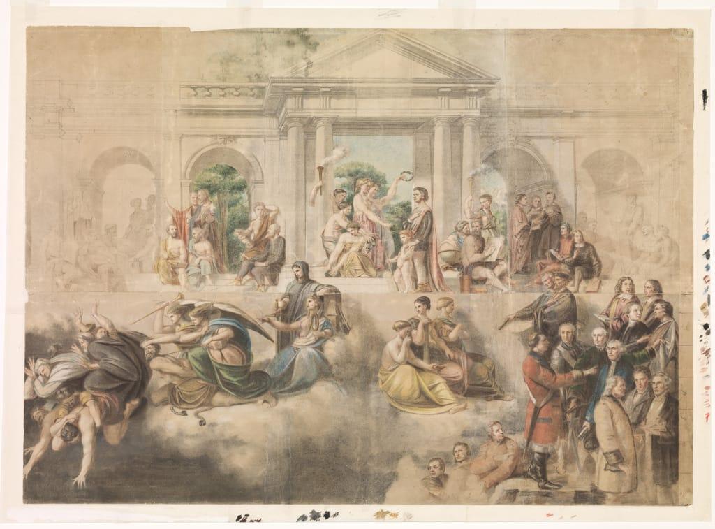 Étude pour « L'Apothéose de Christophe Colomb »