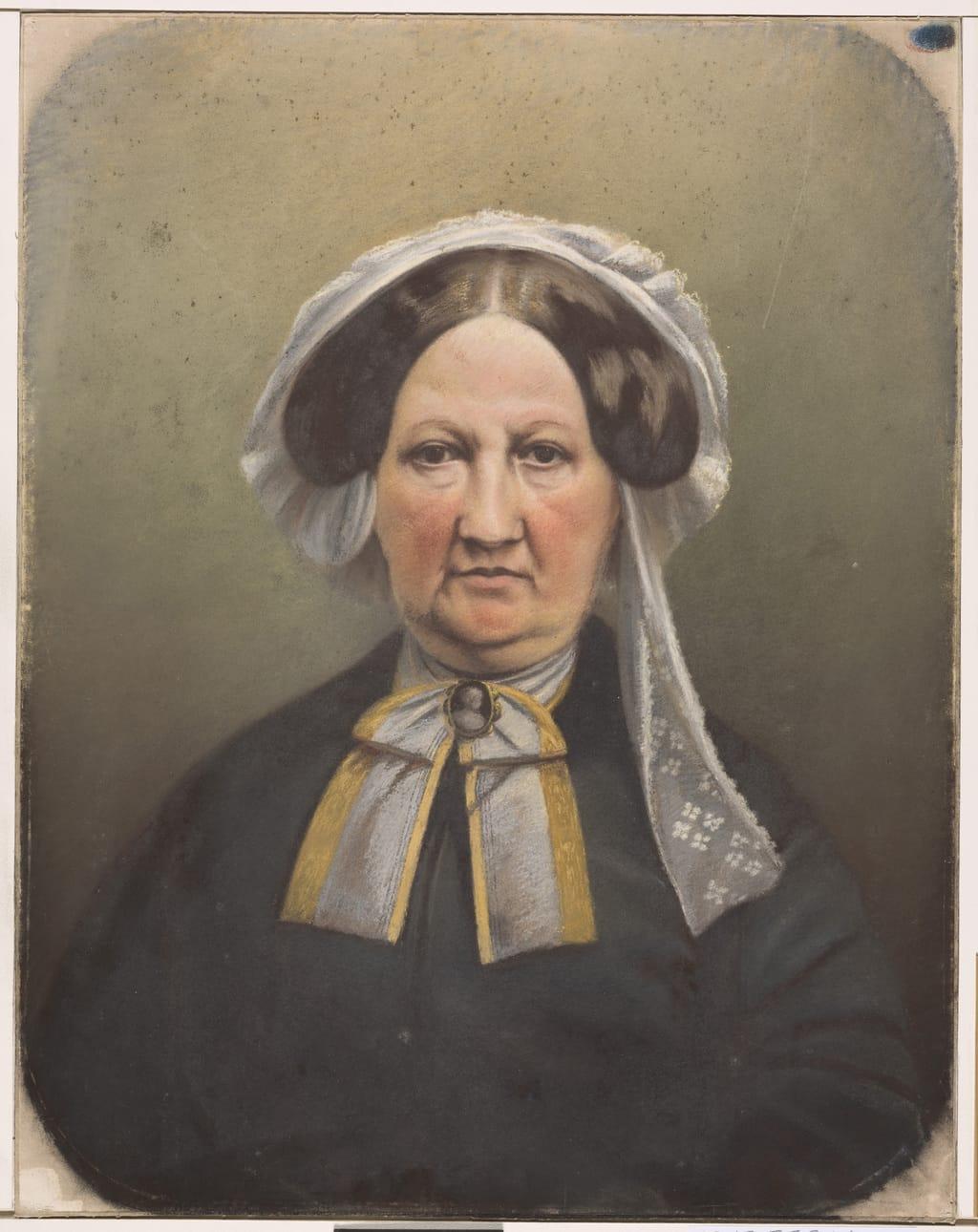 Portrait posthume de madame Louis-Joseph Papineau, née Julie Bruneau, d'après une carte de visite