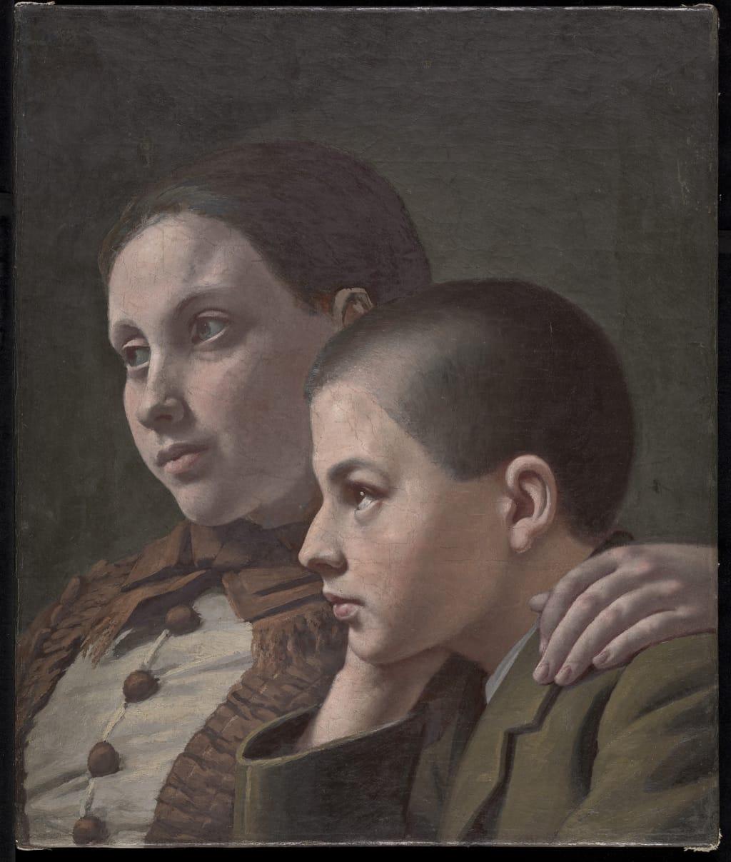 Adine et Henri Bourassa, enfants de l'artiste