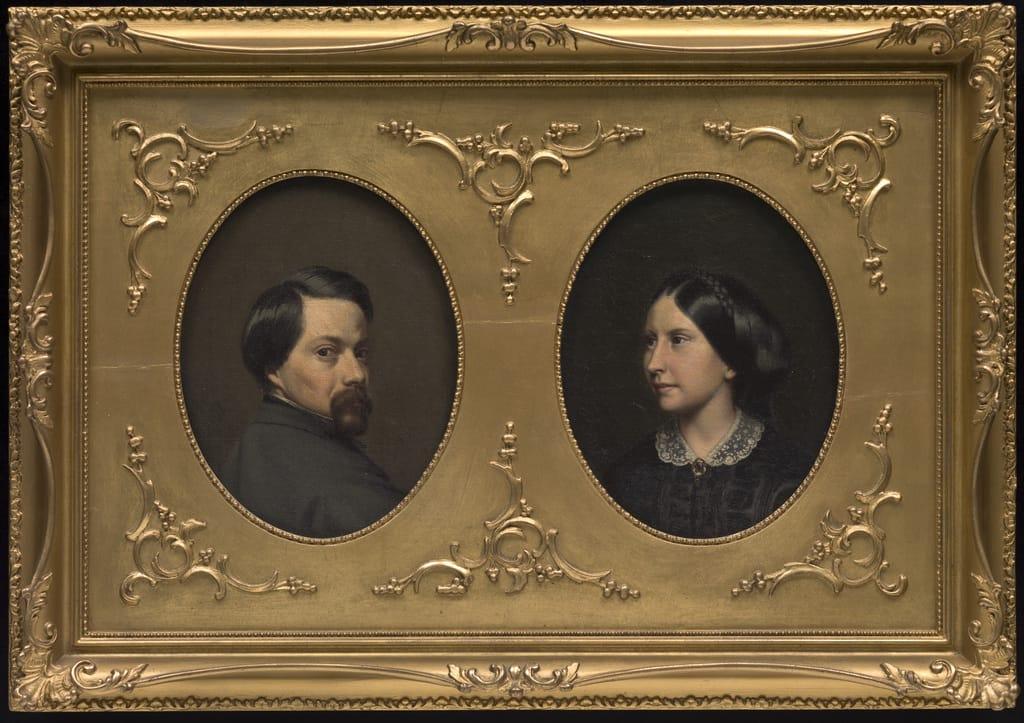 Napoléon Bourassa et sa femme, née Azélie Papineau