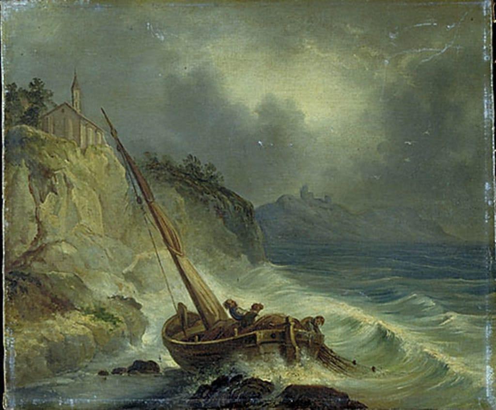 Tempête sur la mer