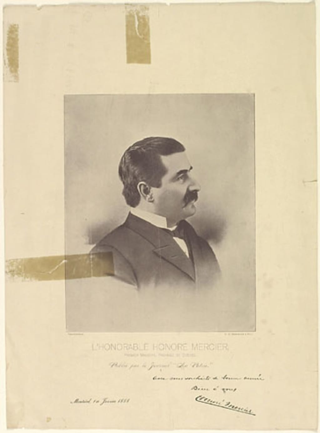 L'Honorable Honoré Mercier