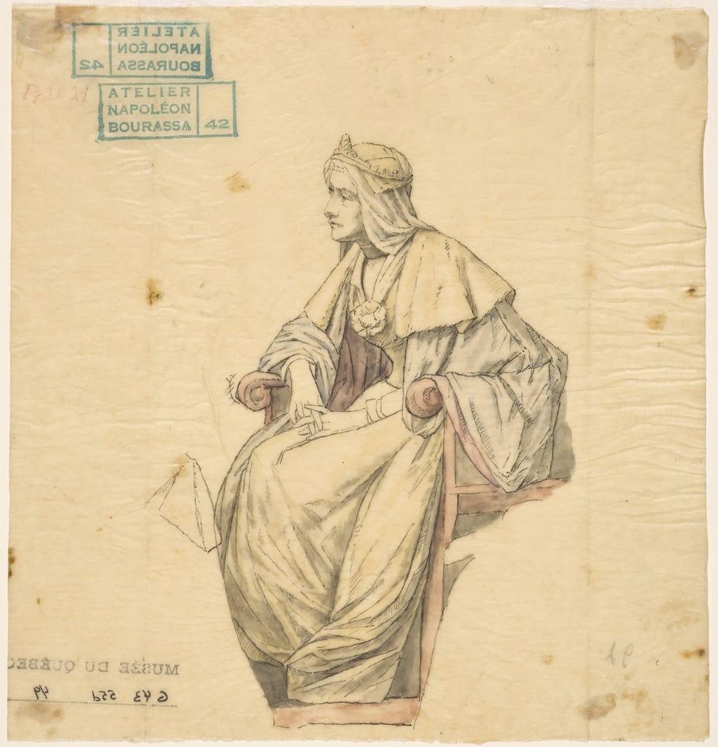 Isabelle 1re, reine de Castille. Étude pour « L'Apothéose de Christophe Colomb »