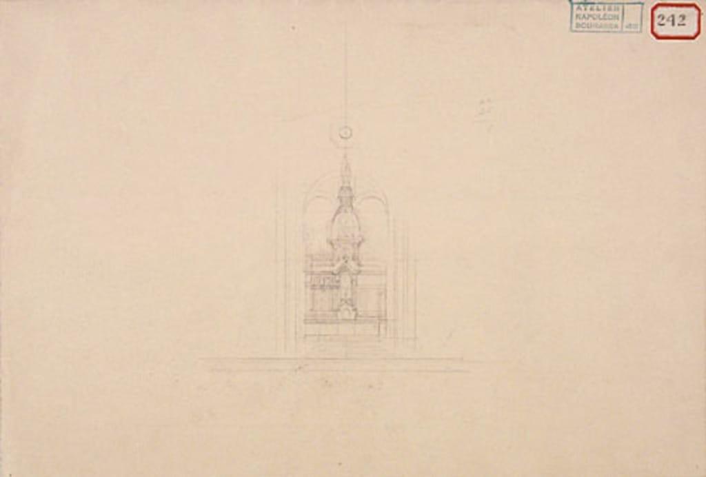 Étude probable pour le maître-autel de la chapelle Notre-Dame-de-Lourdes, Montréal
