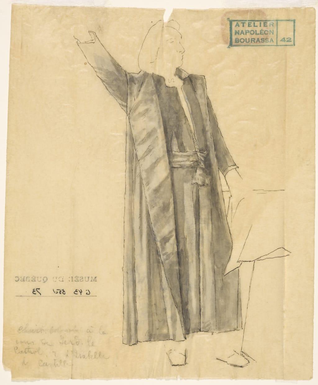 Christophe Colomb. Étude de drapé pour « L'Apothéose de Christophe Colomb »