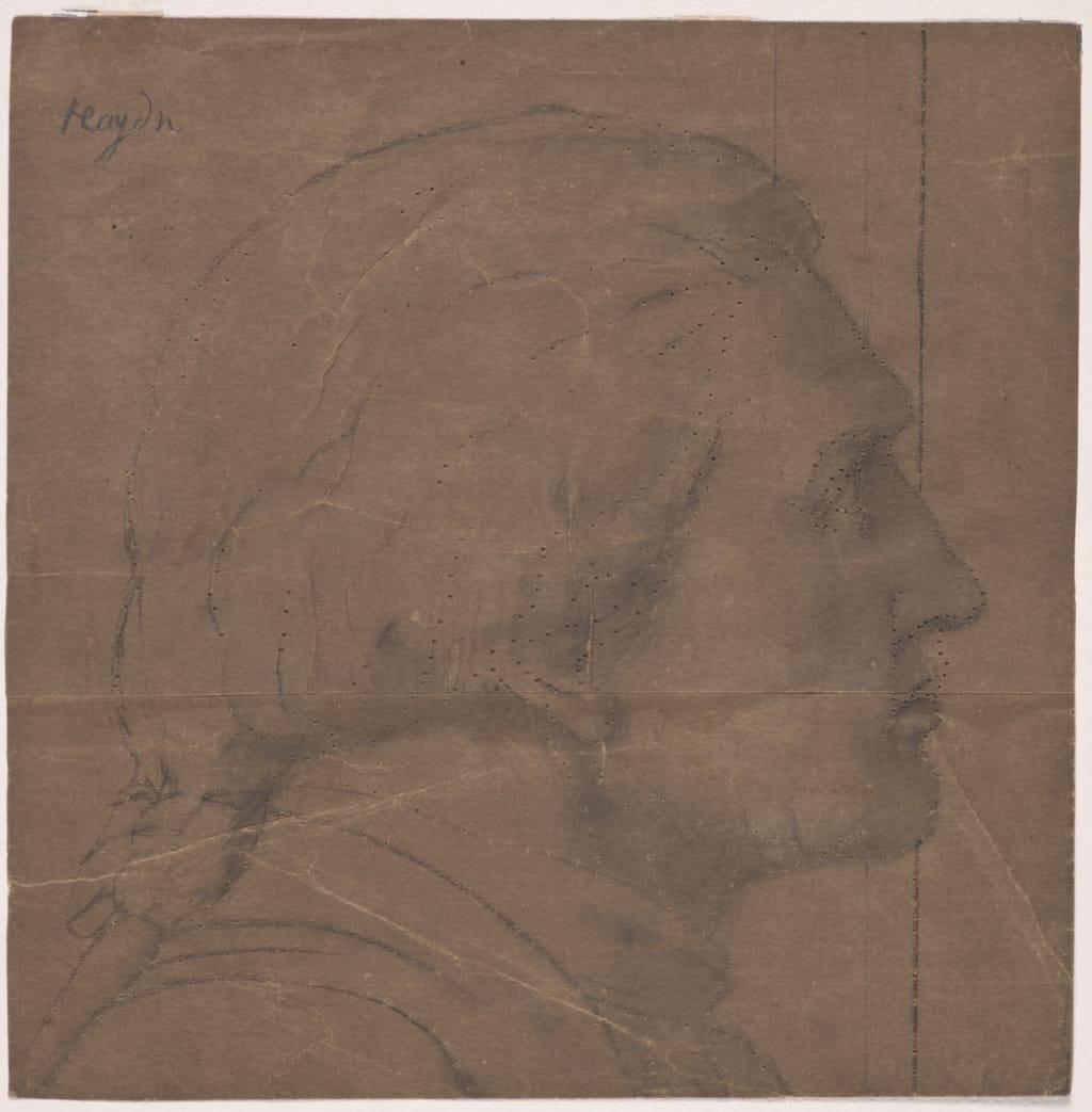 Tête de Haydn. Fragment et poncif pour « L'Apothéose de Christophe Colomb »