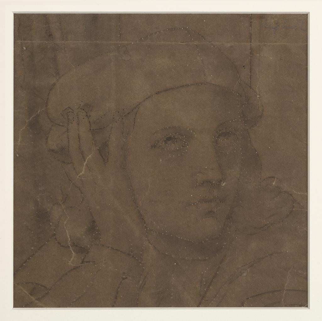 Buste de Raphaël. Fragment et poncif pour « L'Apothéose de Christophe Colomb »