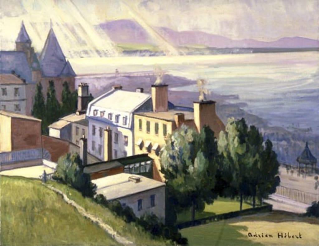Vue de Québec du glacis de la Citadelle