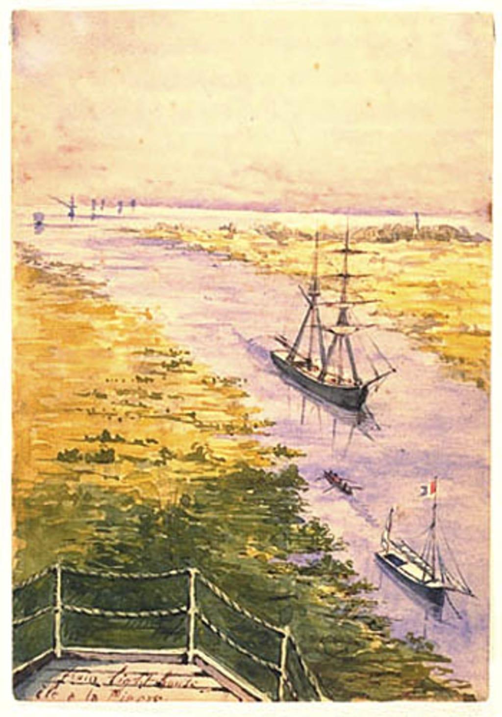 L'Île à la Pierre vue du phare