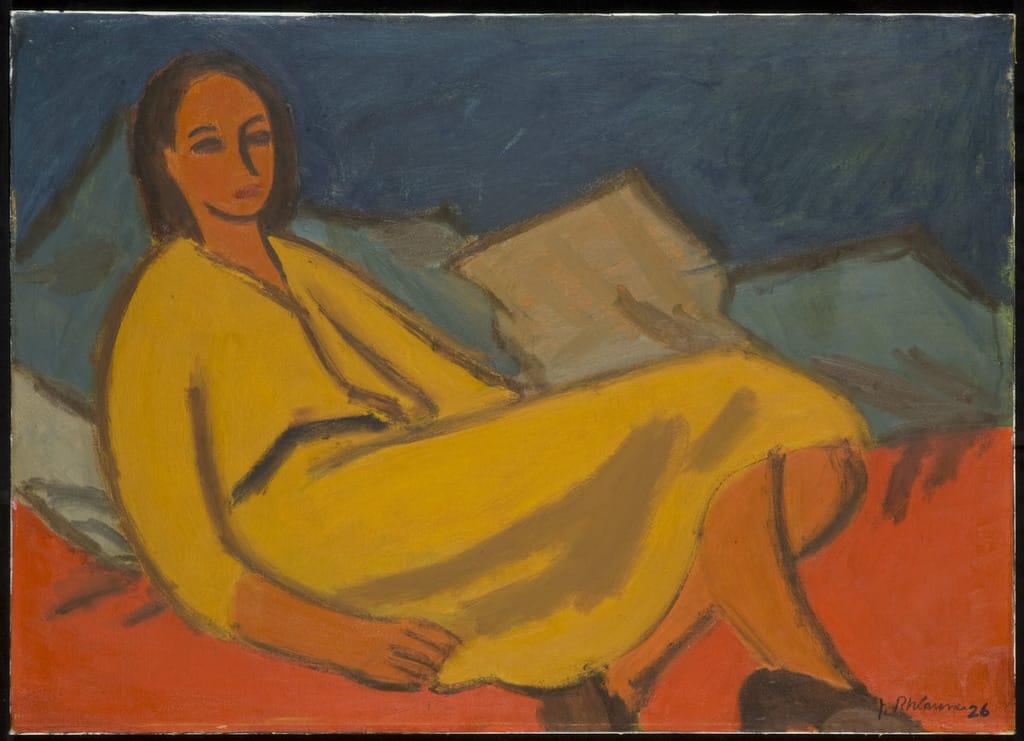 Femme à la robe jaune