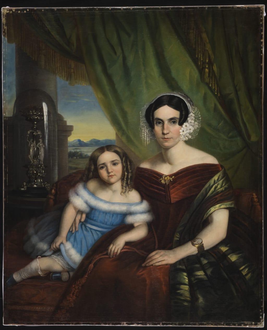 Madame René-Édouard Caron, née Joséphine de Blois, et sa fille Ozine