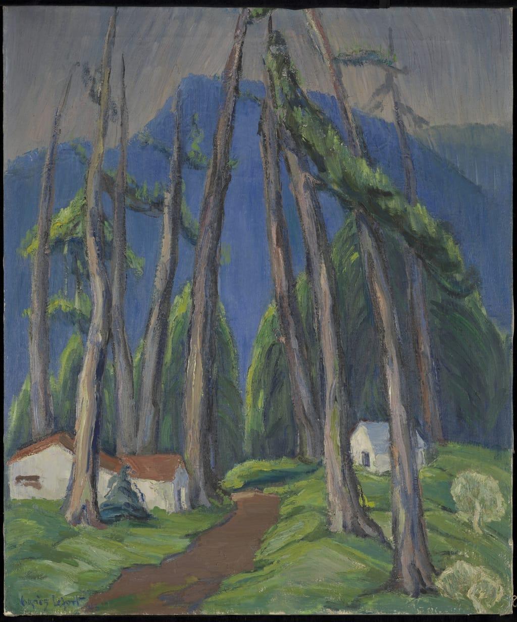 Vers la montagne bleue