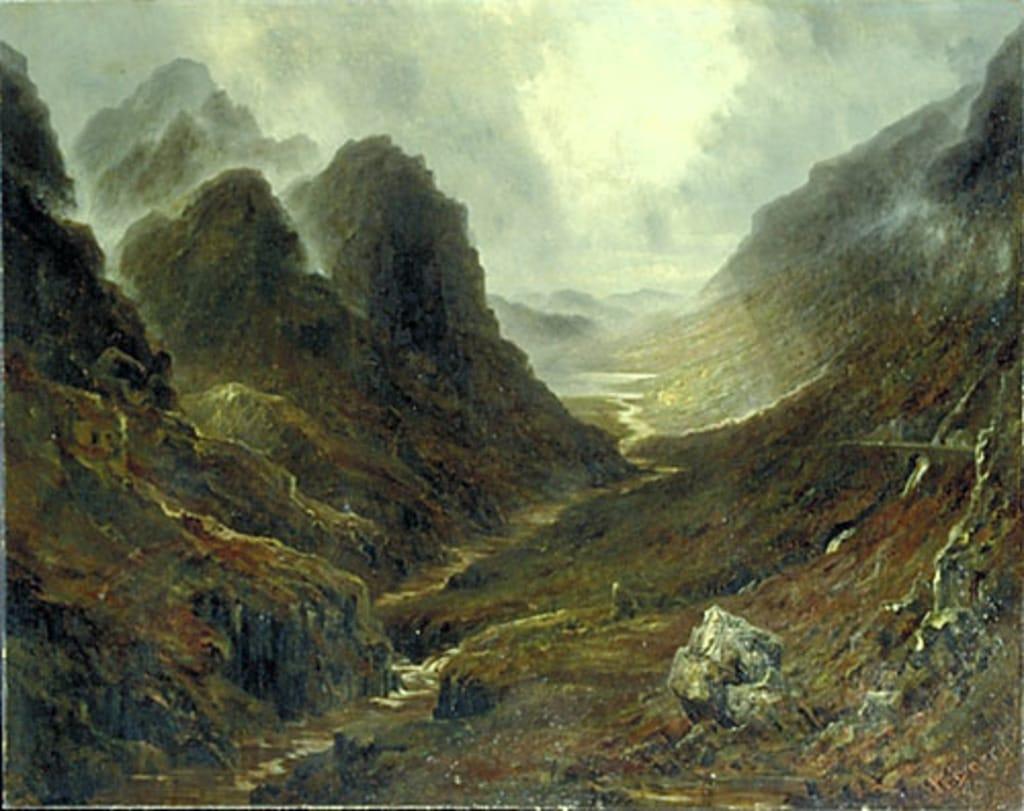 Paysage de montagnes d'Écosse