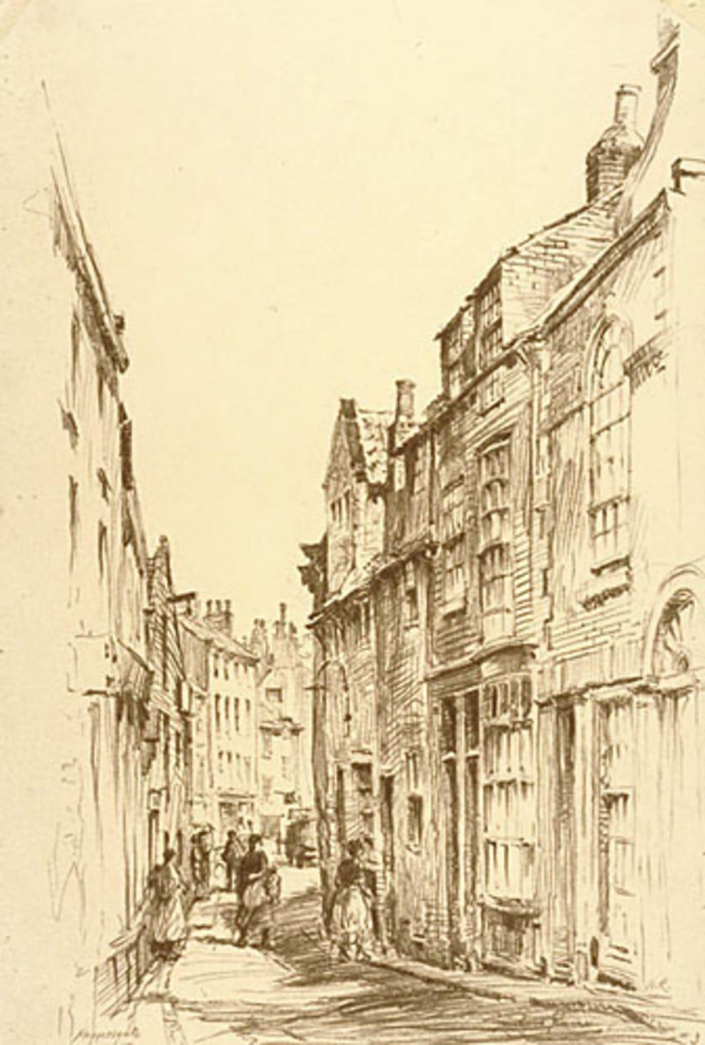 La Rue Haggersgate, à Whitby (Angleterre)