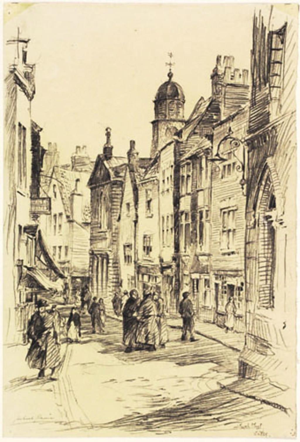 Rue de l'Église, Whitby (Angleterre)
