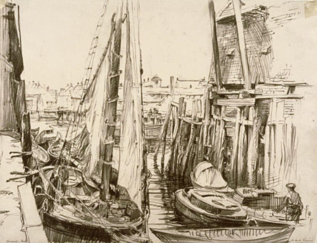 Bateaux de pêche dans le port de Gloucester, Massachusetts