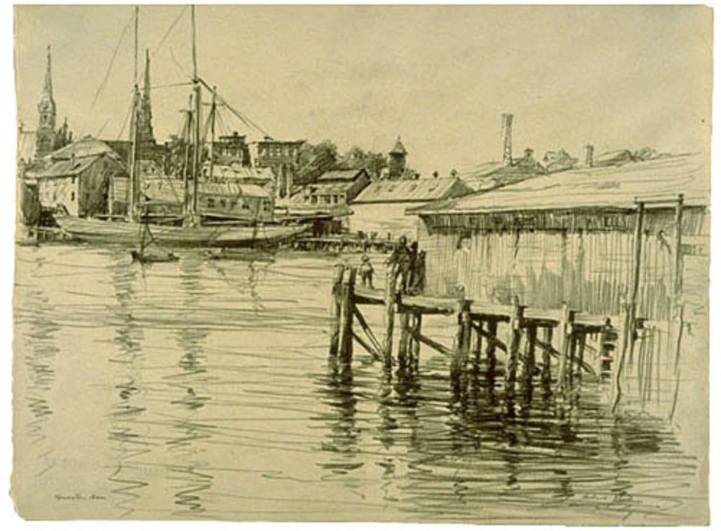 Le Port et la ville de Gloucester, Massachusetts