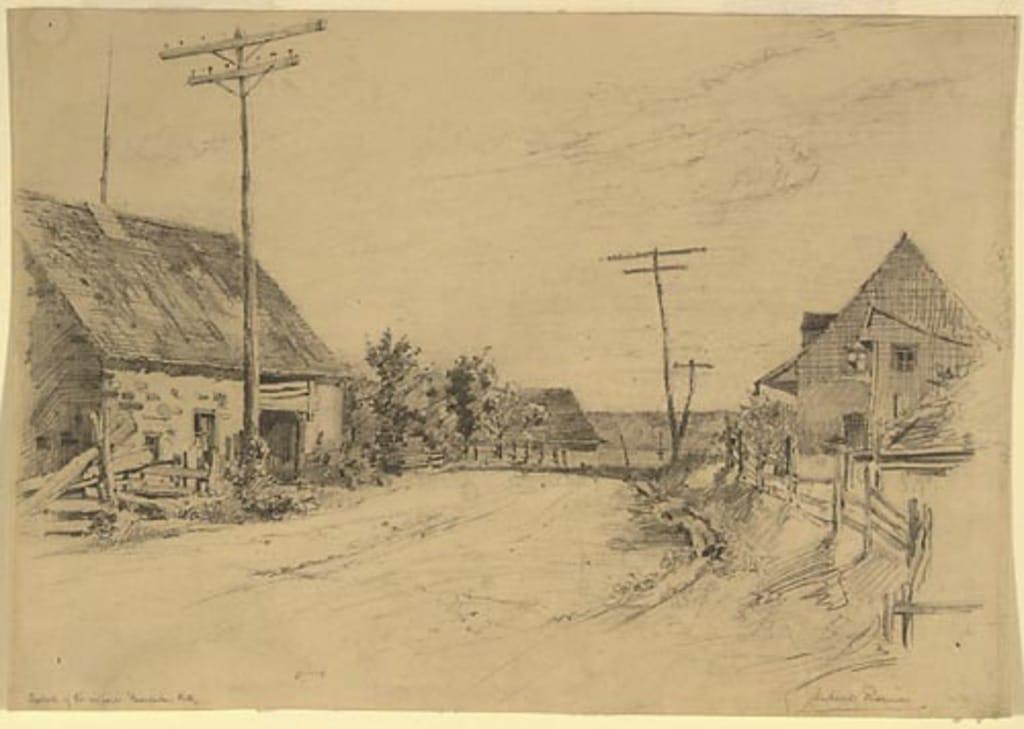 Au bout du village de Beaupré
