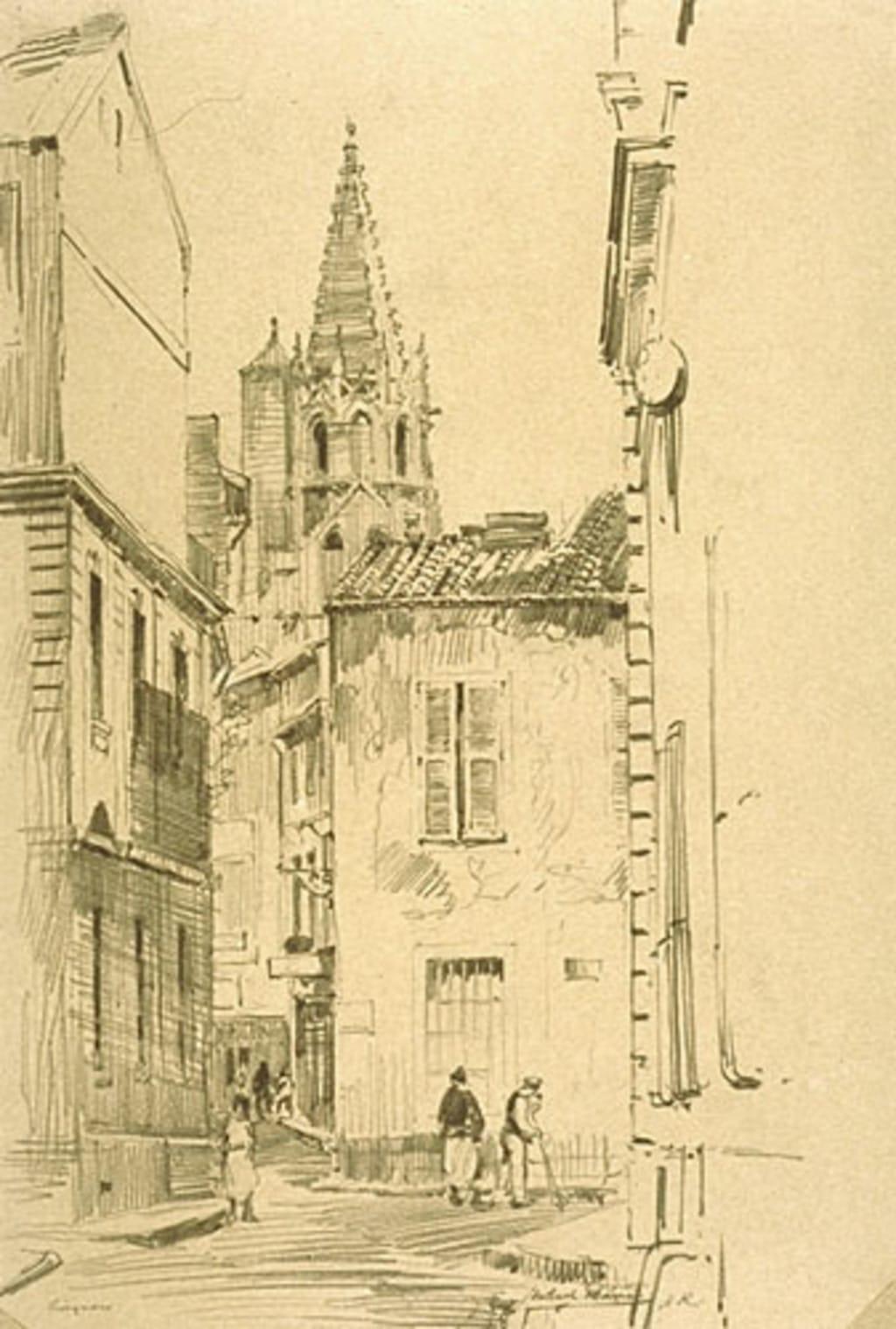 Scène de rue à Avignon (France)