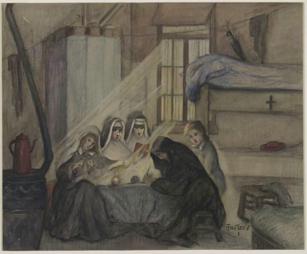 Religieuses canadiennes dans le camp de Besançon