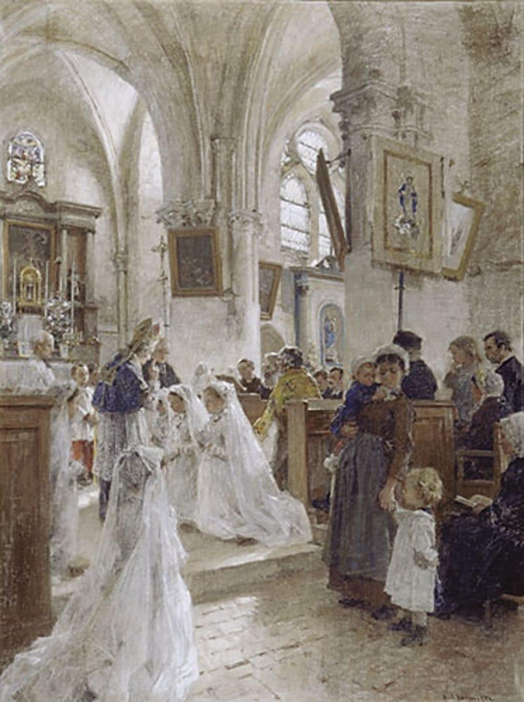 La Confirmation à l'église de Chartèves