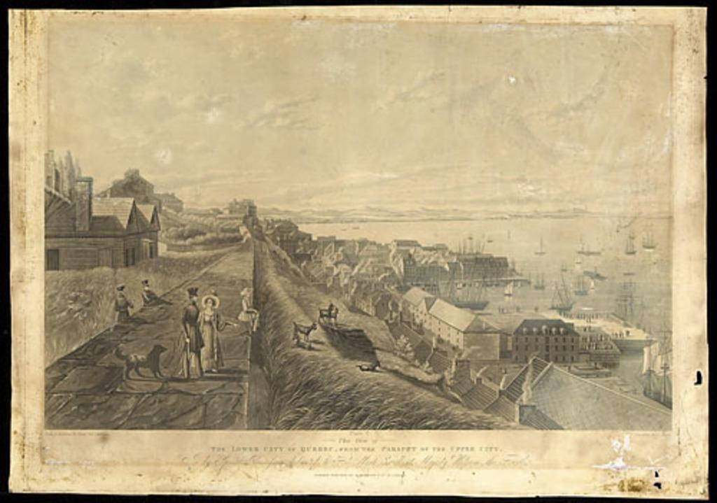 La Basse-Ville de Québec vue des remparts