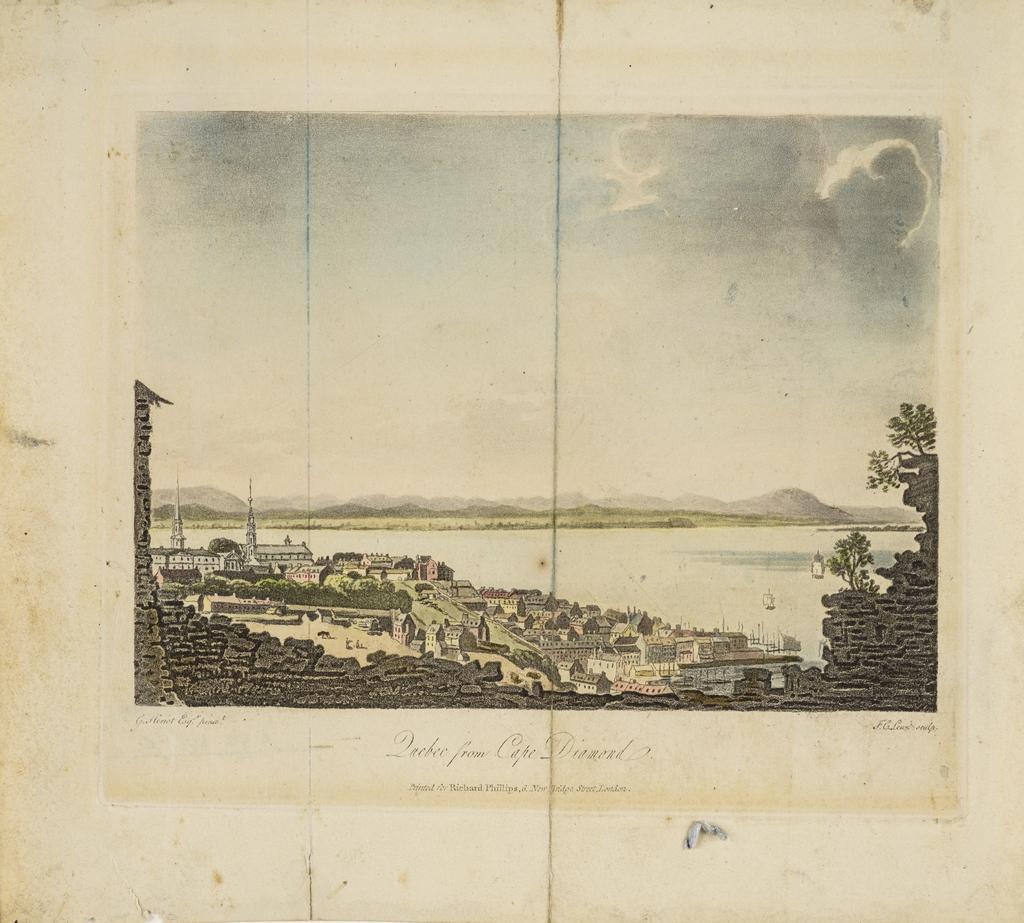Québec vu du cap Diamant, extrait du livre illustré Travels through the Canadas