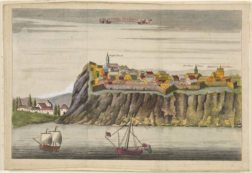 Vue de Trois-Rivières, extrait du British Magazine
