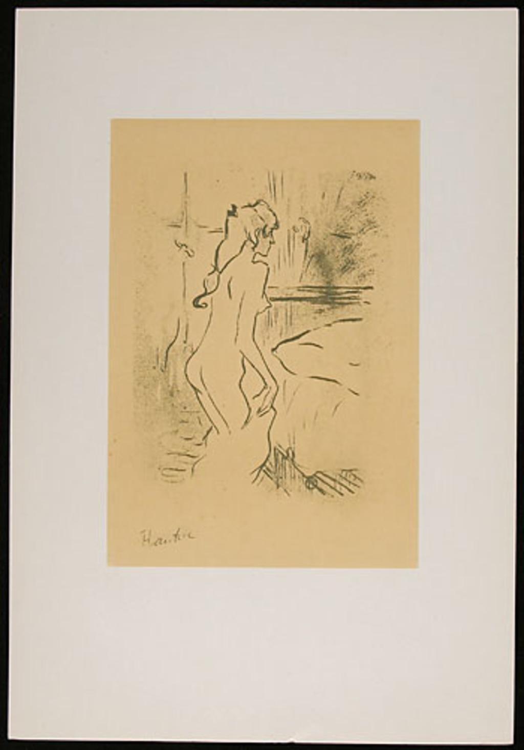 Étude de femme, de l'album «Toulouse-Lautrec, douze lithographies»