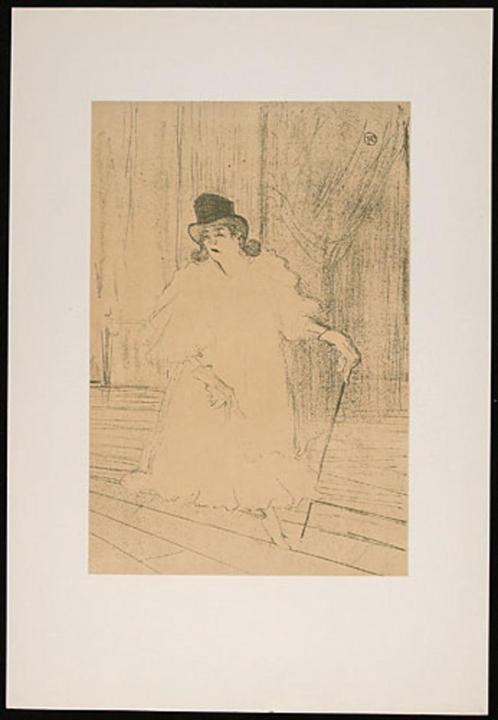 Cecy Loftus, de l'album «Toulouse-Lautrec, douze lithographies»