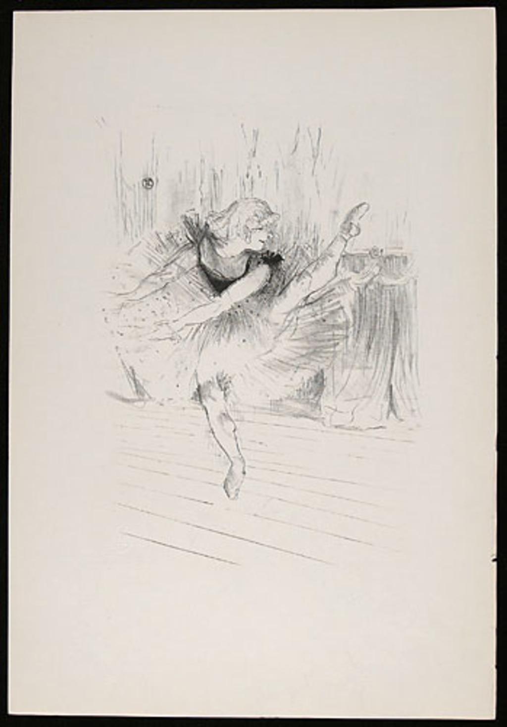 Miss Ida Heath, de l'album «Toulouse-Lautrec, douze lithographies»